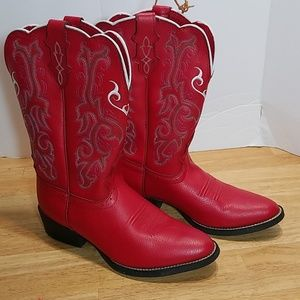 Justin Boots Shoes - Justin 2555jr  Boots Size 3 1/2